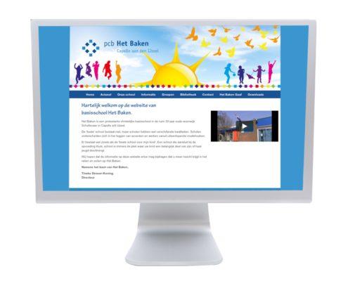 Website en banner PCB Het Baken